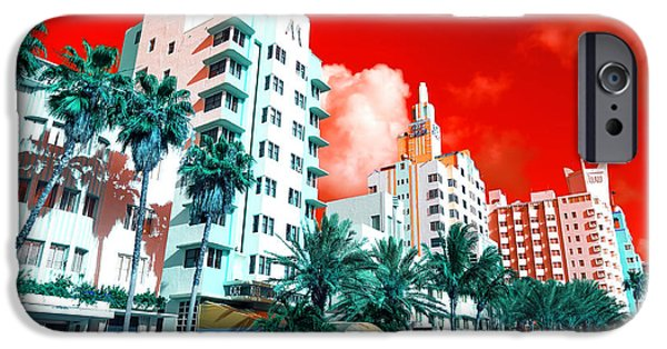 Collins iPhone Cases - Collins Avenue Pop Art iPhone Case by John Rizzuto