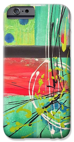 Red Abstract iPhone Cases - Collision  iPhone Case by Brittany Houchin