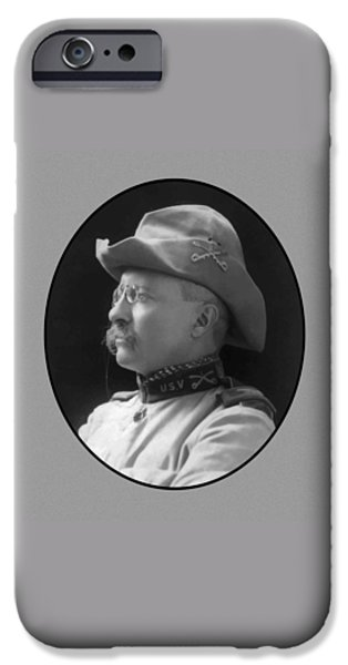 United iPhone Cases - Colonel Roosevelt iPhone Case by War Is Hell Store