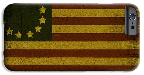 American Revolution Digital Art iPhone Cases - Colonial Flag iPhone Case by Bill Cannon