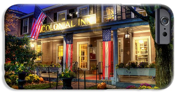 Concord Massachusetts iPhone Cases - Colonial Inn Concord MA -Historic Sites iPhone Case by Joann Vitali