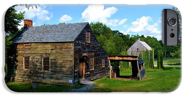 Cabin Window iPhone Cases - Colonial Settlement iPhone Case by Richard Jenkins