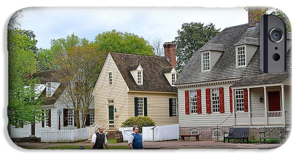 Colonial Man iPhone Cases - Colonial Williamsburg 4 iPhone Case by Todd Hostetter