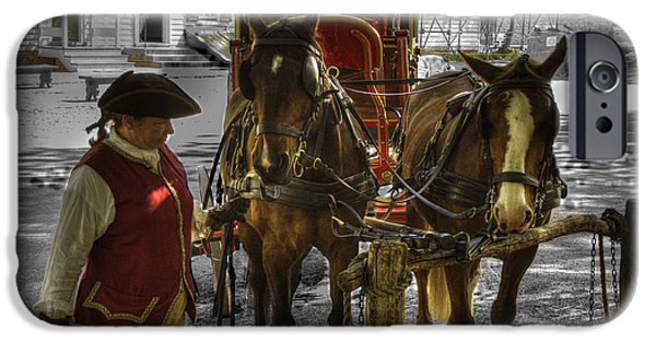War iPhone Cases - Colonial Williamsburg  v15 iPhone Case by John Straton