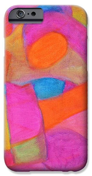 Abstract Rose Oval iPhone Cases - Color Chemistry iPhone Case by Marla McPherson