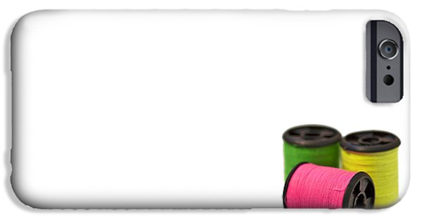 Thread iPhone Cases - Color Me Happy iPhone Case by Evelina Kremsdorf
