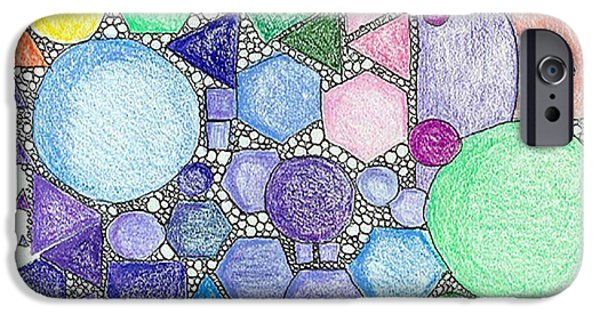 Shape iPhone Cases - Color-Mosaic iPhone Case by Ruth Dailey