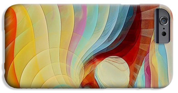 Abstract Digital Pastels iPhone Cases - Color my Dreams iPhone Case by Gayle Odsather