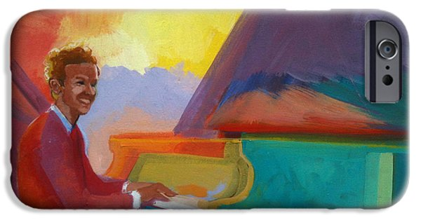 Piano iPhone Cases - Color Piano Justin Levitt Steinway iPhone Case by Suzanne Giuriati-Cerny
