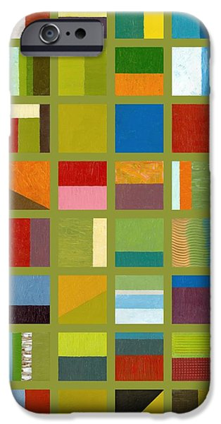 Color Study Collage 64 iPhone Case by Michelle Calkins