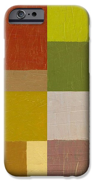 Color Study with Orange and Green iPhone Case by Michelle Calkins