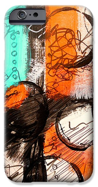 Tangerine Paintings iPhone Cases - Color Swatch 1 iPhone Case by Nancy Merkle