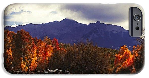 Autumn iPhone Cases - Colorado Blazing Autumn iPhone Case by Janice Rae Pariza