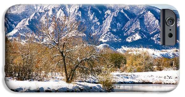 Walden Pond iPhone Cases - Colorado Flatirons 2 iPhone Case by Marilyn Hunt