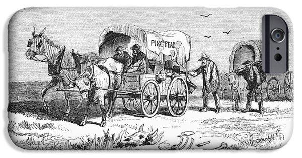 Nebraska iPhone Cases - Colorado Gold Rush, 1859 iPhone Case by Granger