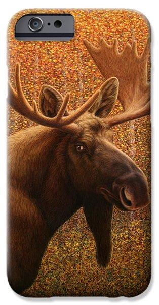 James W Johnson iPhone Cases - Colorado Moose iPhone Case by James W Johnson