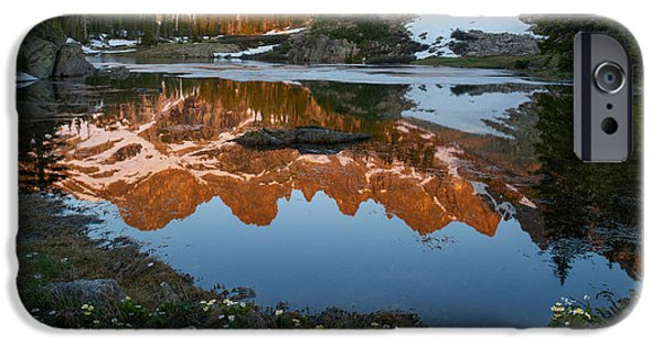 Willow Lake iPhone Cases - Colorado Reflection - Willow Lakes iPhone Case by Aaron Spong