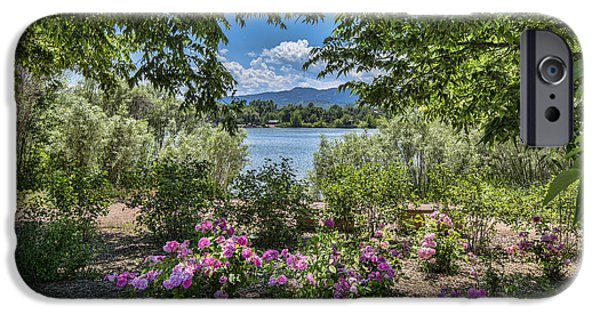 Fort Collins iPhone Cases - Colorado Rose Garden iPhone Case by Keith Ducker