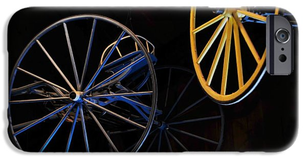 Abstract Digital Photographs iPhone Cases - Colored Wheels iPhone Case by Kathleen Struckle