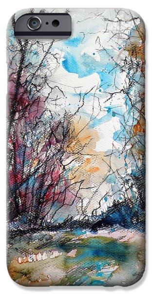 Autumn iPhone Cases - Colorful autumn iPhone Case by Kovacs Anna Brigitta