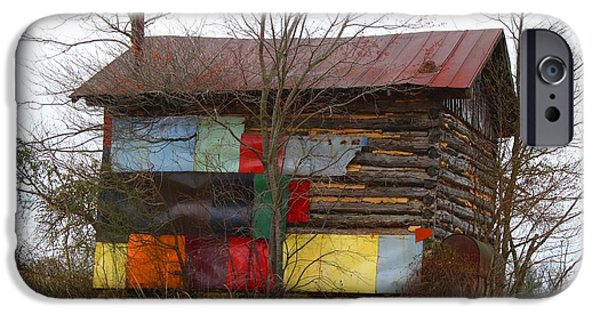 Shed iPhone Cases - Colorful Barn iPhone Case by Kathryn Meyer