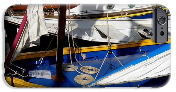 St.tropez iPhone Cases - Colorful Boats iPhone Case by Lainie Wrightson