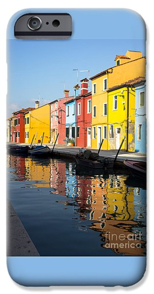 Charly iPhone Cases - Colorful Burano iPhone Case by Prints of Italy