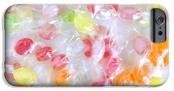 Tasty Photographs iPhone Cases - Colorful Candies iPhone Case by Carlos Caetano