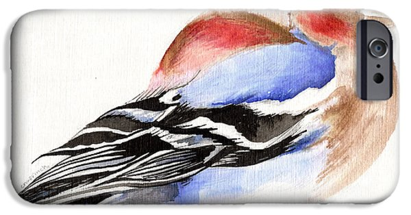 Finch iPhone Cases - Colorful Chaffinch iPhone Case by Nancy Moniz
