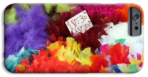 Guides iPhone Cases - Colorful Easter Feathers iPhone Case by Linda Woods