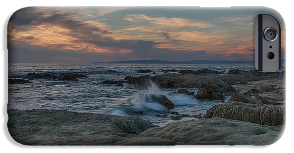 Ocean Sunset iPhone Cases - Colorful Evening Sky iPhone Case by Bill Roberts