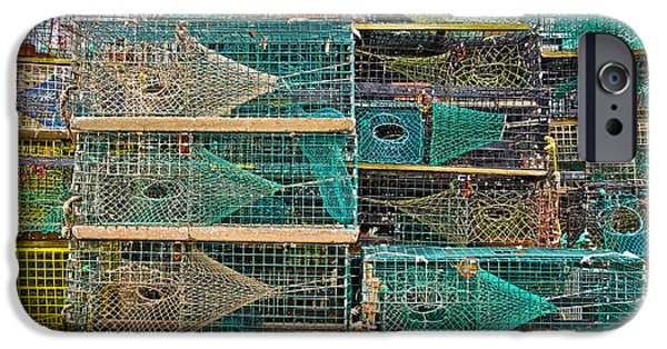Marine iPhone Cases - Colorful Lobster Traps iPhone Case by Colleen Kammerer