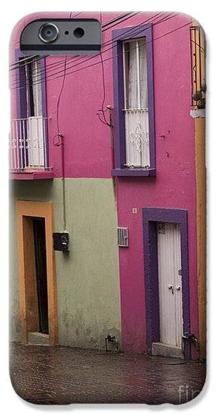 Facade iPhone Cases - Colorful Mexican Homes iPhone Case by Juli Scalzi