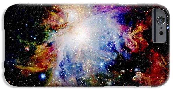 Stellar iPhone Cases - Colorful Orion Nebula iPhone Case by Johari Smith