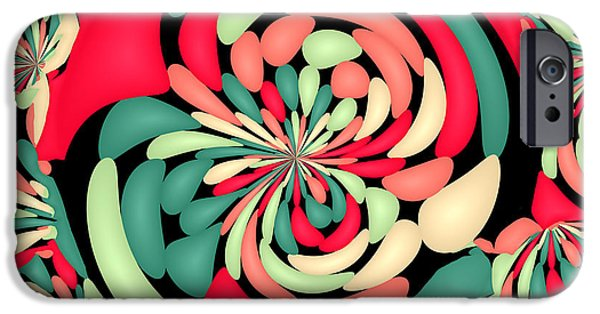 Abstract Digital Art iPhone Cases - Colorful rubber balloons iPhone Case by Gaspar Avila