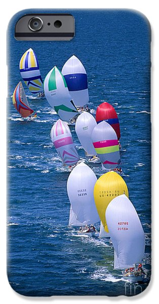 Colorful Sails In Ocean iPhone Case by Sharon Green - Printscapes