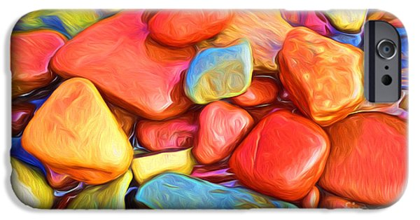 Nature Abstracts iPhone Cases - Colorful stones iPhone Case by Veikko Suikkanen