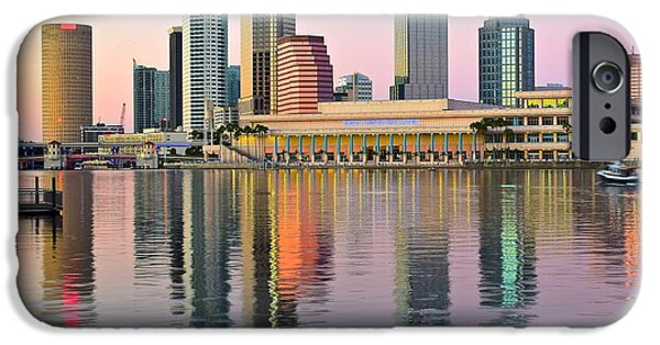 Inner World iPhone Cases - Colorful Tampa Bay iPhone Case by Frozen in Time Fine Art Photography