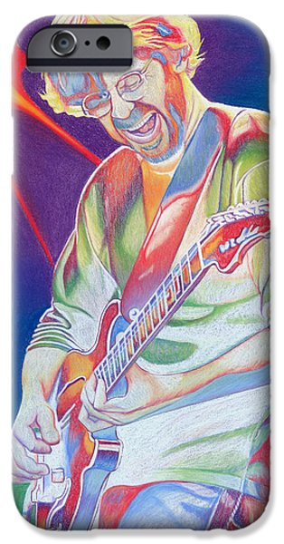 Well iPhone Cases - Colorful Trey Anastasio iPhone Case by Joshua Morton