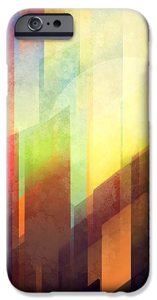 Colorful Abstract iPhone Cases - Colorful urban design iPhone Case by Thubakabra