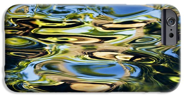 Recently Sold -  - Oil Slick iPhone Cases - Colorful Water Ripples iPhone Case by Dave Fleetham - Printscapes