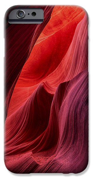 Nation Pyrography iPhone Cases - Colors of Antelope Canyon iPhone Case by Robert Rinsem