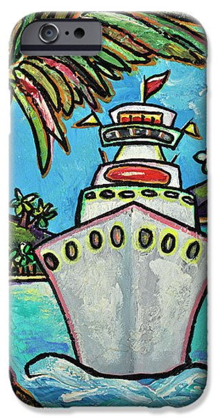 Cruise iPhone Cases - Colors of Cruising iPhone Case by Patti Schermerhorn