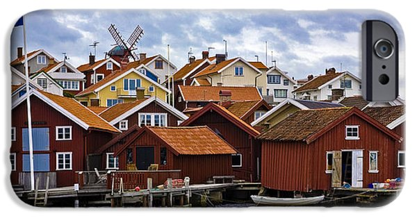 Village By The Sea iPhone Cases - Colors Of Sweden iPhone Case by Frank Tschakert