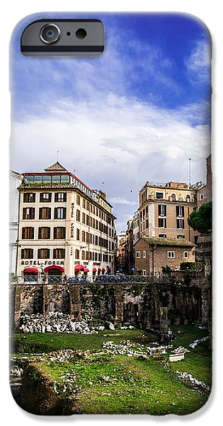 Clouds Reliefs iPhone Cases - Colosseum and the cloud  iPhone Case by Wajih Ben taleb