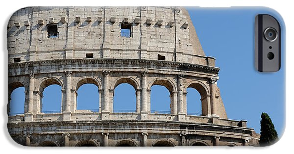 Ancient Ruins iPhone Cases - Colosseum or Coliseum iPhone Case by Edward Fielding