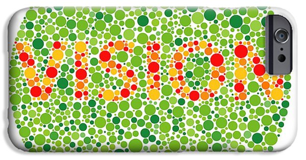 Diagnosis iPhone Cases - Colour Blindness Test iPhone Case by David Nicholls