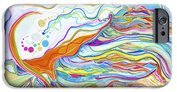Nature Abstracts iPhone Cases - Colourful Threads iPhone Case by Zeva Mirankar