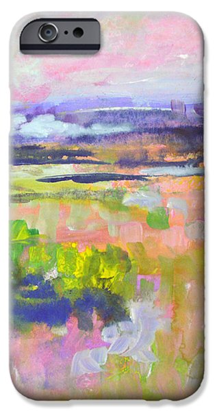 Colorful Abstract iPhone Cases - Colourful Land II iPhone Case by Tracy-Ann Marrison