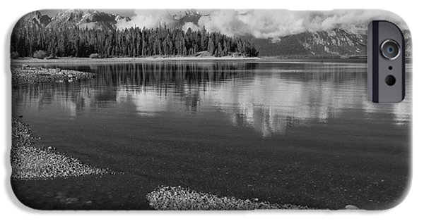 United States iPhone Cases - Colter Bay Tranquility - Grand Teton National Park iPhone Case by Sandra Bronstein